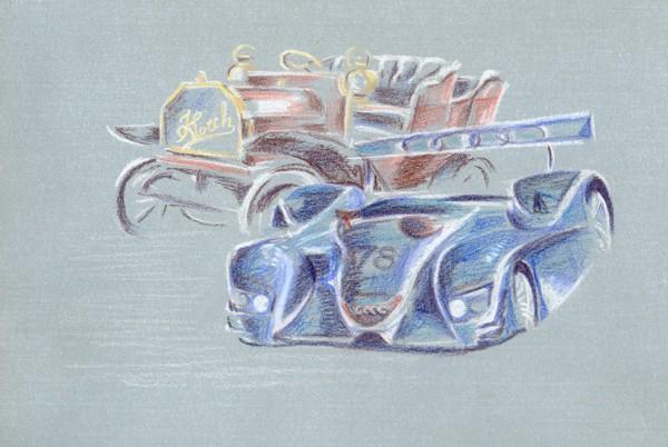 """Картина """"Horch & Audi"""""""